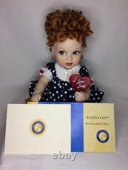 Lucille Ball I LOVE LUCY Franklin Mint LOLLIPOP Porcelain Polka Dot Dr Baby Doll