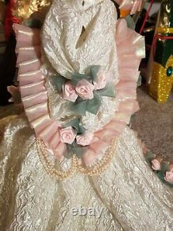 MARYSE NICOLE BLUSHING ROSE Franklin Mint Heirloom porcelain Victorian Doll 20