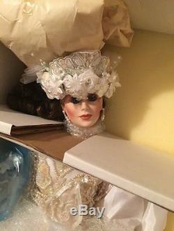 MARYSE NICOLE Franklin Mint Heirloom Vanessa Bride Wedding Doll porcelain 22