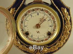 Marie Antoinette Porcelain Clock Franklin Mint/Victoria & Albert Museum Replica