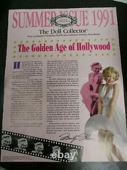Marilyn Monroe 7 Year Itch 16 Franklin Mint Heirloom Porcelain Doll