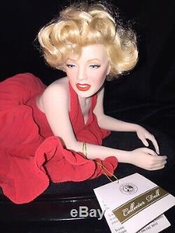 Marilyn Monroe Forever Marilyn Porcelain Portrait Doll Franklin Mint EUC