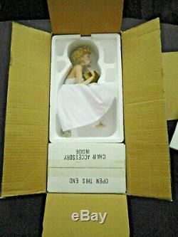 Marilyn Monroe Franklin Mint Love Marilyn Porcelain Portrait Doll Bnib Coa Chair
