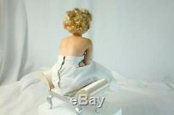Marilyn Monroe Franklin Mint Porcelain Portrait Doll & Satin Seat #B7077 - RARE