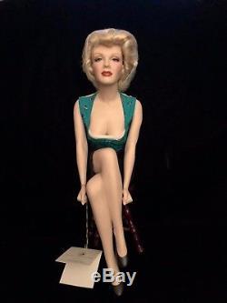 Marilyn Monroe Porcelain Doll Franklin Mint Unforgettable Marilyn