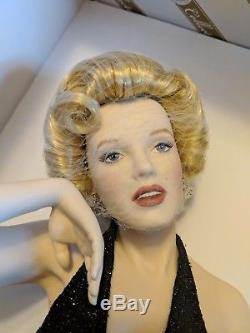 Marilyn Monroe Porcelain Portrait Doll Eternally Marilyn B11e726 Franklin Mint