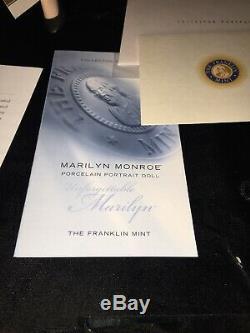 Marilyn Monroe Unforgettable Marilyn Porcelain Portrait Franklin Mint EUC