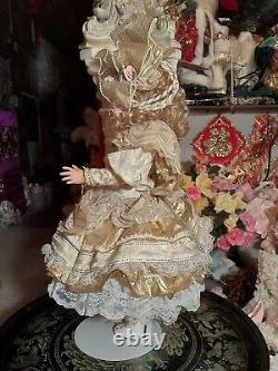 Maryse Nicole Goldie Vintage 1990 Full Body Porcelain Doll Victorian Christmas