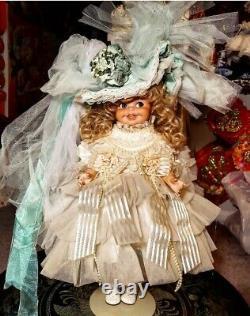 Maryse Nicole Kelly Vintage 1990 Full Porcelain Antique Doll