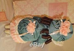 Mib 1994 Franklin Mint Porcelain Doll 16'' Bebe Bru Signed By Maryse Nicole