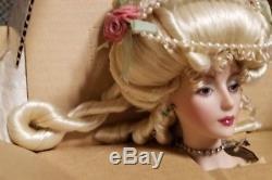 Mint Nib Coa Franklin Mint Heirloom Marie Antoinette Porcelain Doll 17