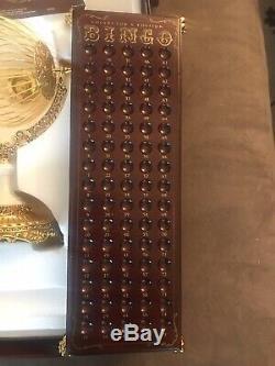 NEW Franklin Mint Bingo Set Collectors Edition, Gold & Porcelain Complete RARE