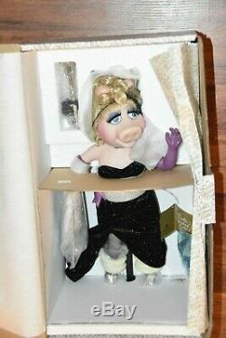 NEW older Miss Piggy Porcelain Doll Muppets Franklin Mint Heirloom vintage