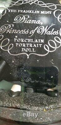 NIB Franklin Mint Diana Princess of Sophistication Porcelain Portrait Doll