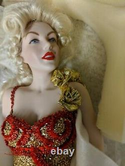 NIB Franklin Mint Marilyn Monroe Porcelain Doll River Of No Return