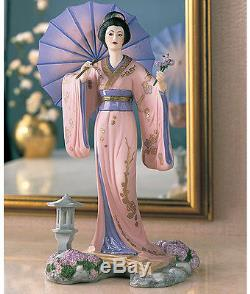 NIB Japan Yoshiko Princess of Cherry Blossoms Porcelain NEW N BOX Franklin Mint