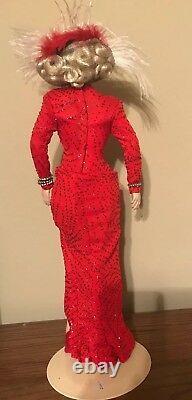 NIB Marilyn Monroe Franklin Mint Porcelain doll Gentlemen Prefer Blondes