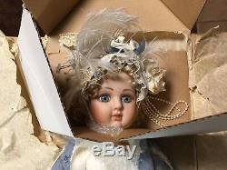 NRFB & COA Bebe Steiner Doll Franklin Mint 24 French Child Porcelain Doll