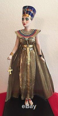 Nefertiti Franklin Mint Egyptian Queen Porcelain Doll