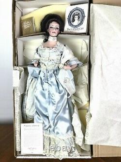 New In Box 1989 Franklin Mint Gibson Girl Boudoir Porcelain Doll 22 Mirror COA
