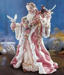 Nib 11 Pink Porcelain Victorian Santa 1995 Franklin Mint