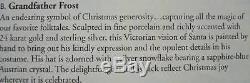 Nib 2001 Santa $300 Old World Victorian Christmas Porcelain 11 T Franklin Mint