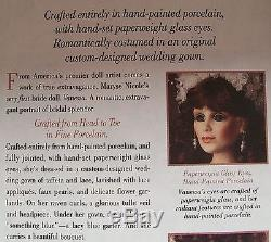 Nib Franklin Mint $750 Bride Doll Maryse Nicole Full Jointed Porcelain 22'' Coa