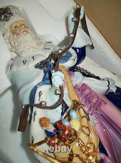 Nib Santa Old World Victorian Christmas Porcelain 11 T 2001 $300 Franklin Mint