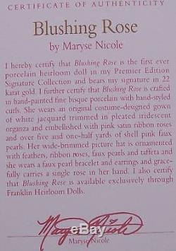 Nrfb $500 Franklin Mint Maryse Nicole Southern Belle Doll 20 All Porcelain +coa