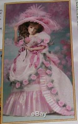 Nrfb Maryse Nicole Southern Belle Doll 20 All Porcelain +coa 1995 Franklin Mint