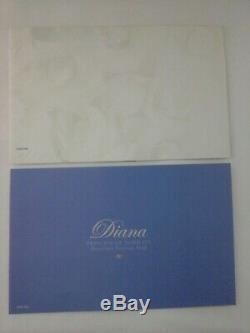 PRINCESS DIANA Porcelain Portrait Doll Franklin Mint Black Dress New in Box