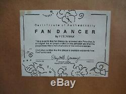 Peter Max Franklin Mint Porcelain Plaque Titled Fan Dancer