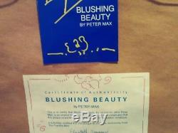Peter Max Limited Edition -the Franklin Mint- Set Of 4 Artworks On Porcelain