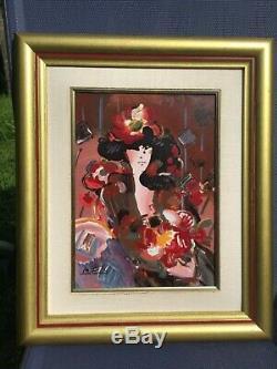 Peter Max Porcelain Plaque Brown Lady FranklinMint COA