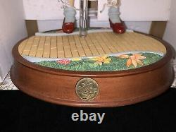 Porcelain Franklin Mint Wizard Of Oz Dorothy Doll With Music Box Stand