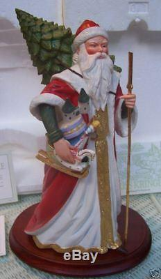 Porcelain Santa Victorian Christmas Heirloom 12 + Coa Nib 1988 Franklin Mint