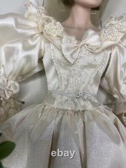 Princess Diana Doll Franklin Mint Porcelain Wedding/Bride Doll Limited Ed. COA