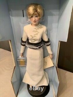 Princess Diana Doll, Queen Of Fashion Porcelain Doll By Franklin Mint