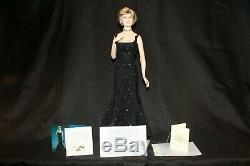 Princess Diana, Princess of Sophistication Franklin Mint Porcelain Doll, C. O. A