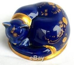 RAREST EVER The Franklin Mint TFM Curio Cabinet Cat Porcelain Limoges' Figurine