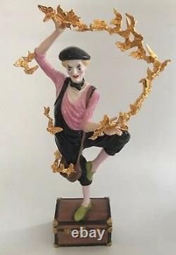 RARE FRANKLIN MINT CLOWN OF THE GOLDEN BUTTERFLIES FIGURINE 1991 It/287