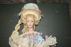 RARE Franklin Heirloom Marie Antoinette Collectible Porcelain Doll