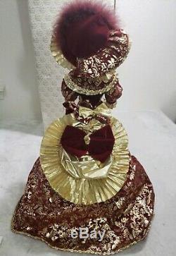 RARE Franklin Mint Heirloom Porcelain Doll Gibson Girl ROSLYN Christmas EUC