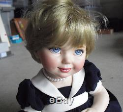 RARE Franklin Mint Prototype Princess Diana Jointed Porcelain Baby Doll LOOK