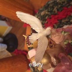 RARE PINK & GOLD FRANKLIN MINT Victorian FATHER CHRISTMAS Lemus Porcelain SANTA