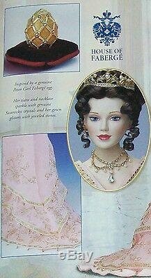 RUSSIA Imperial Debutante Porcelain Doll Sofia withegg Franklin Mint Faberge + COA