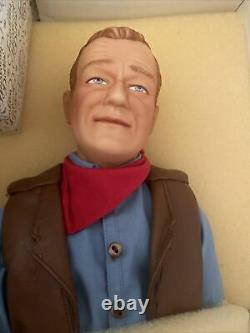 Rare Franklin Mint 1990 John Wayne Cowboy Heirloom 21 Inch Porcelain Doll