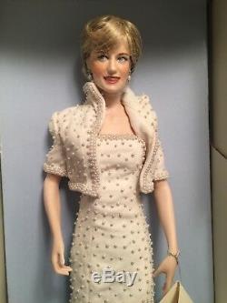 Rare Franklin Mint Diana Princess of Wales Porcelain Doll Original Box COA New