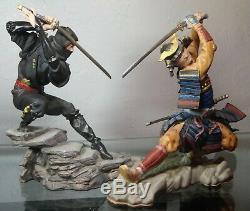 Rare Franklin Mint Sum Nakamura Samurai Shogun & Shadow Ninja Porcelain Figurine