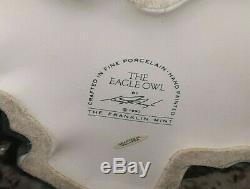 Rare! Franklin Mint The Eagle Owl Large Porcelain Figurine By George Mcmonigle